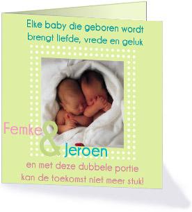 Geboortekaartje-tekst